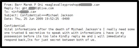 Así es uno de los correos spam que se están distribuyendo