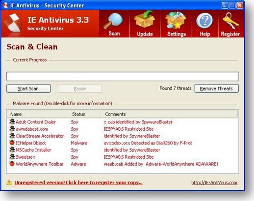 Así puede verse un falso antivirus