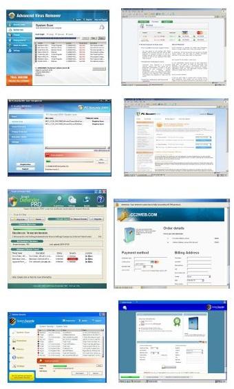Otras muestras de falsos programas antivirus