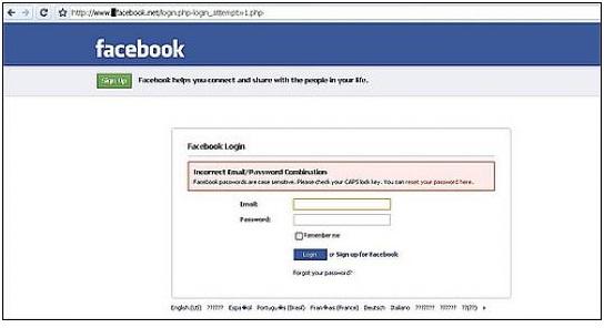 ¡Cuidado! Un Facebook falso ronda por la Web