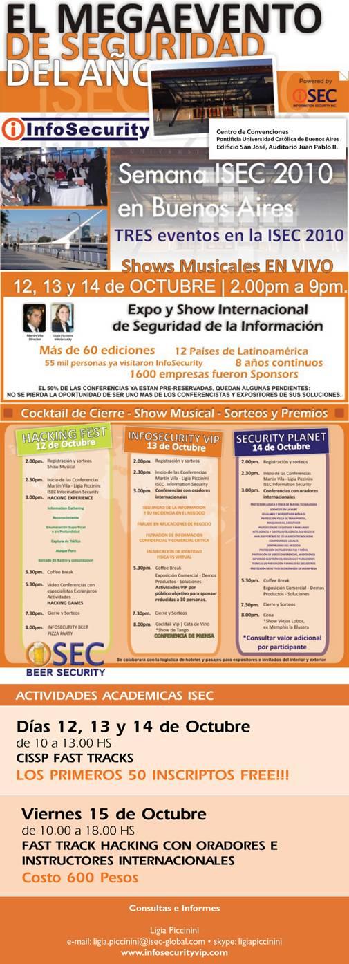 Semana ISEC 2010 - Buenos Aires