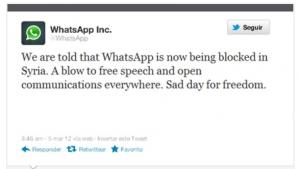 Siria bloquea el servicio de mensajería WhatsApp