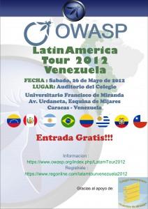 OWASP invita a su LatinAmerica Tour 2012 en Venezuela