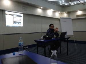 Luis Carlos Díaz en el seminario de Seguridad digital