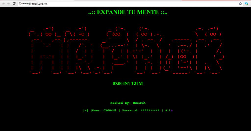0X004N1 T34M Hackea Linux Mexico