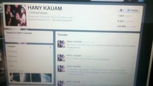 Hackeada la cuenta de Twitter de Hany Kauam