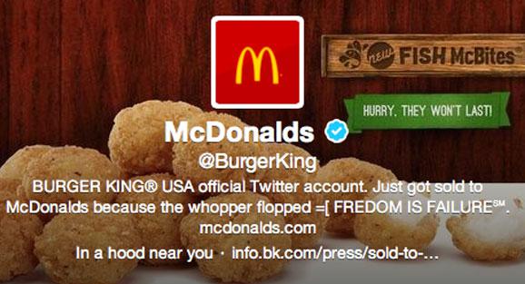 Hackers convirtieron la cuenta de Twitter de Burger King en una de McDonald's