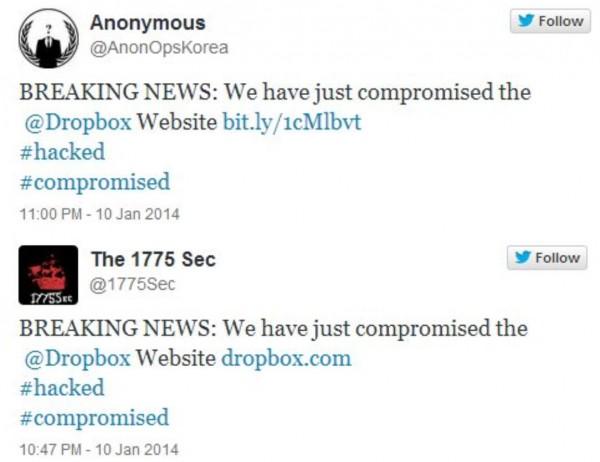 Dropbox con problemas y hackers afirman que lo han invadido