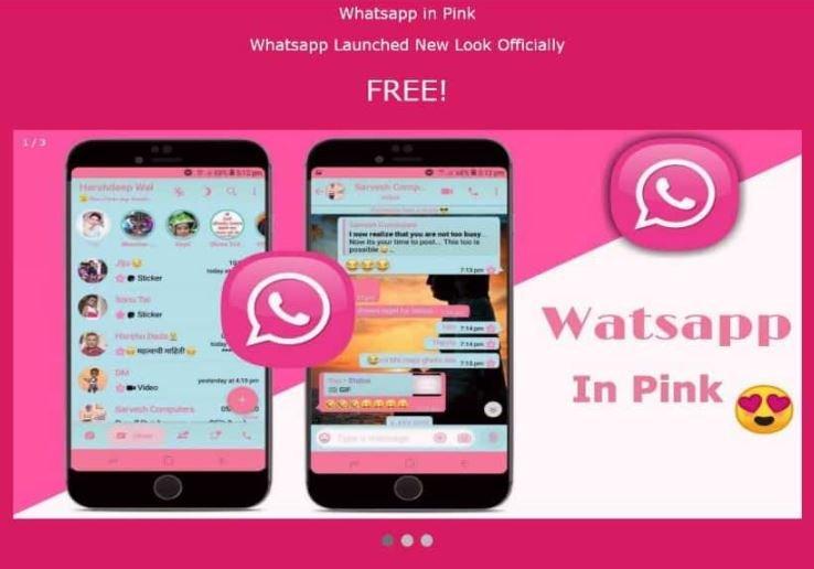 Falsa versión rosa de WhatsApp instala un malware en los dispositivos de los usuarios